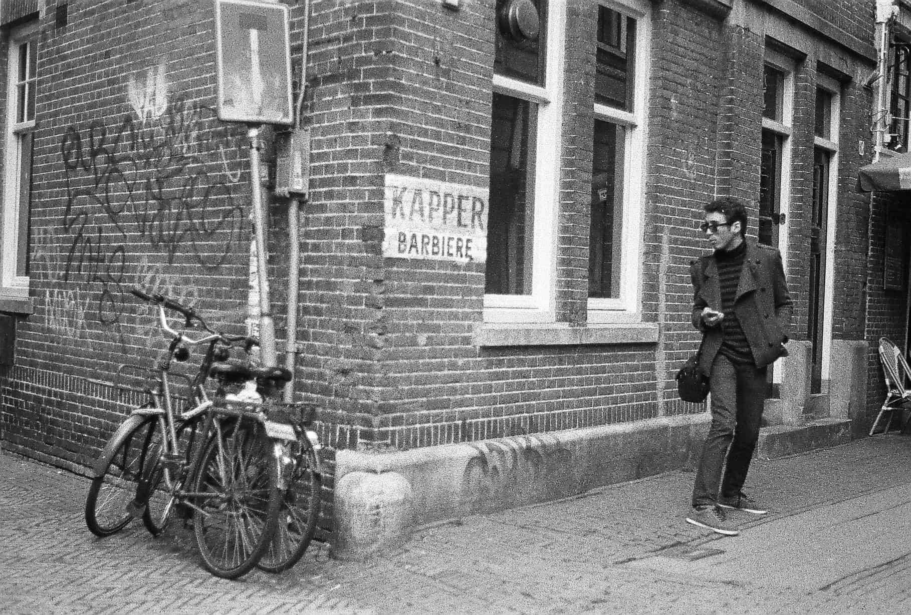Lee and Bikes in Amsterdam
