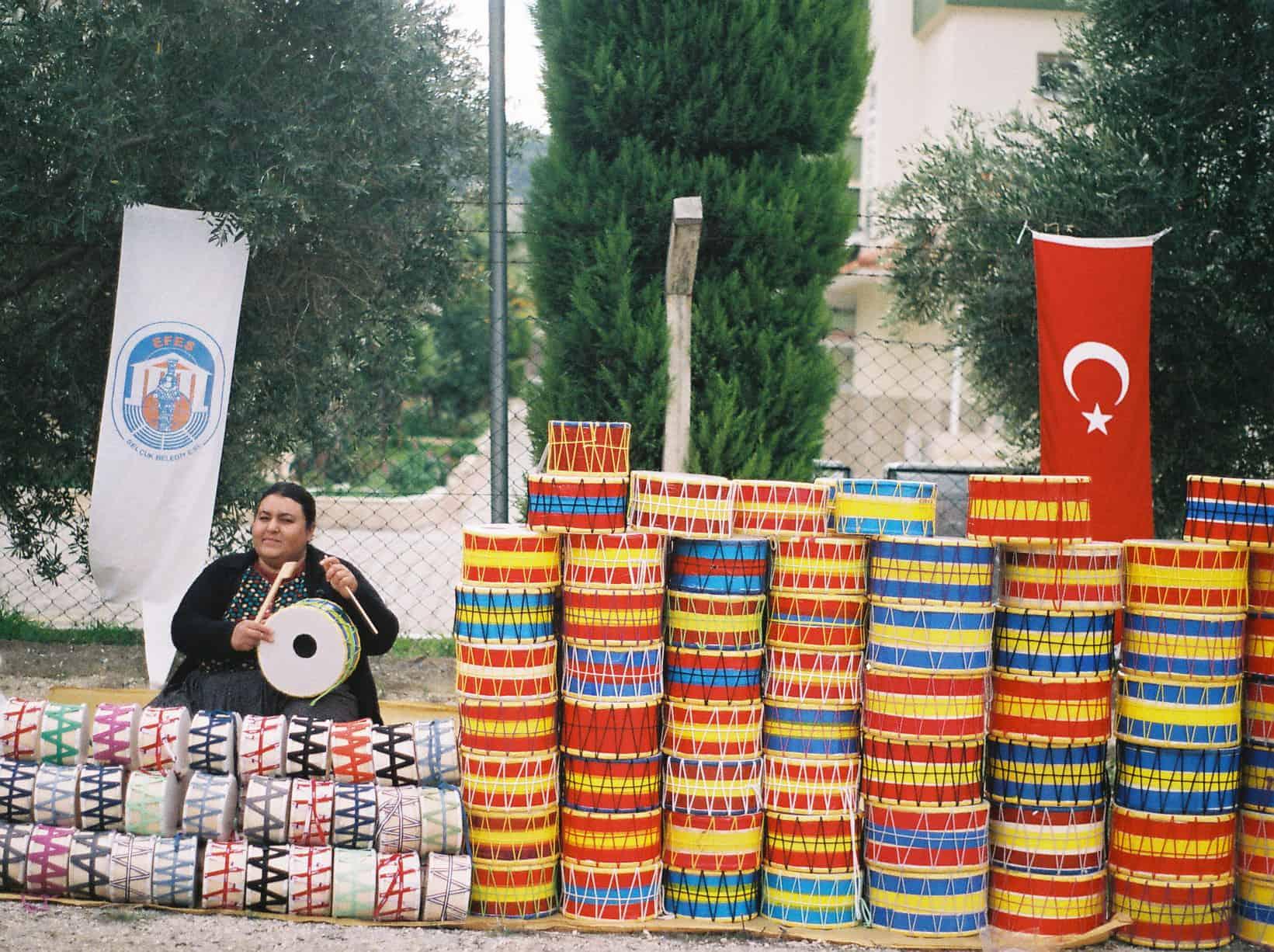 Drum Selling Lady (camel wrestling festival)