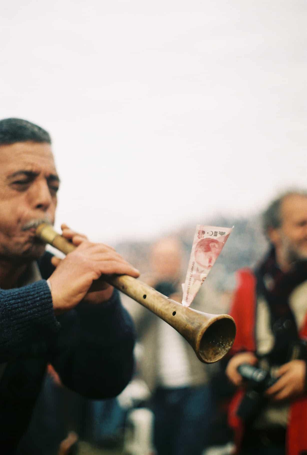Musicians at Camel Wrestling Festival