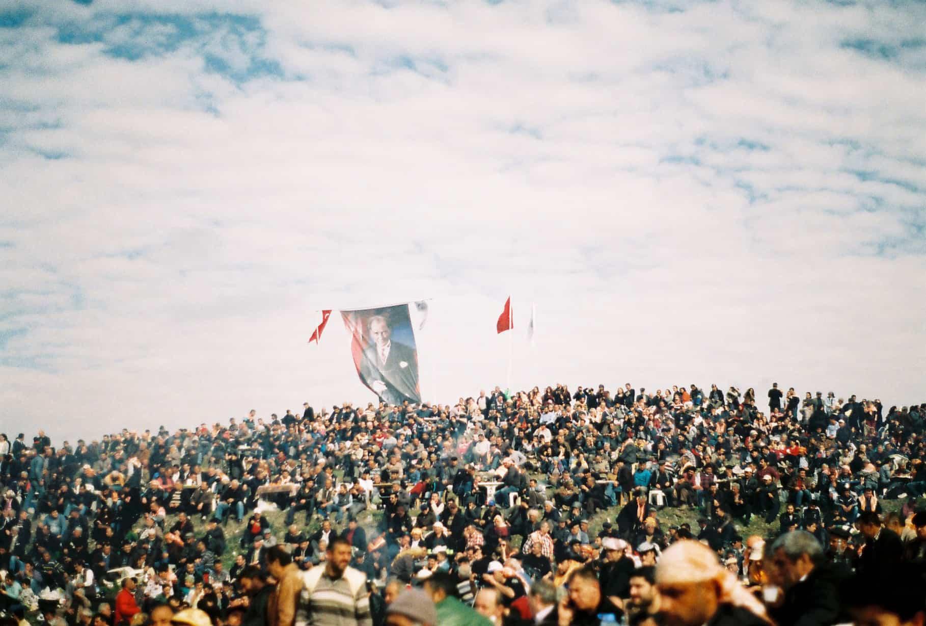 Ataturk and Camel Crowd (camel wrestling festival)