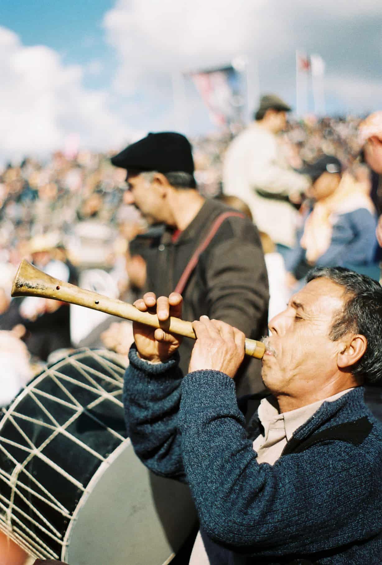 Musicians in Sunshine (camel wrestling festival)