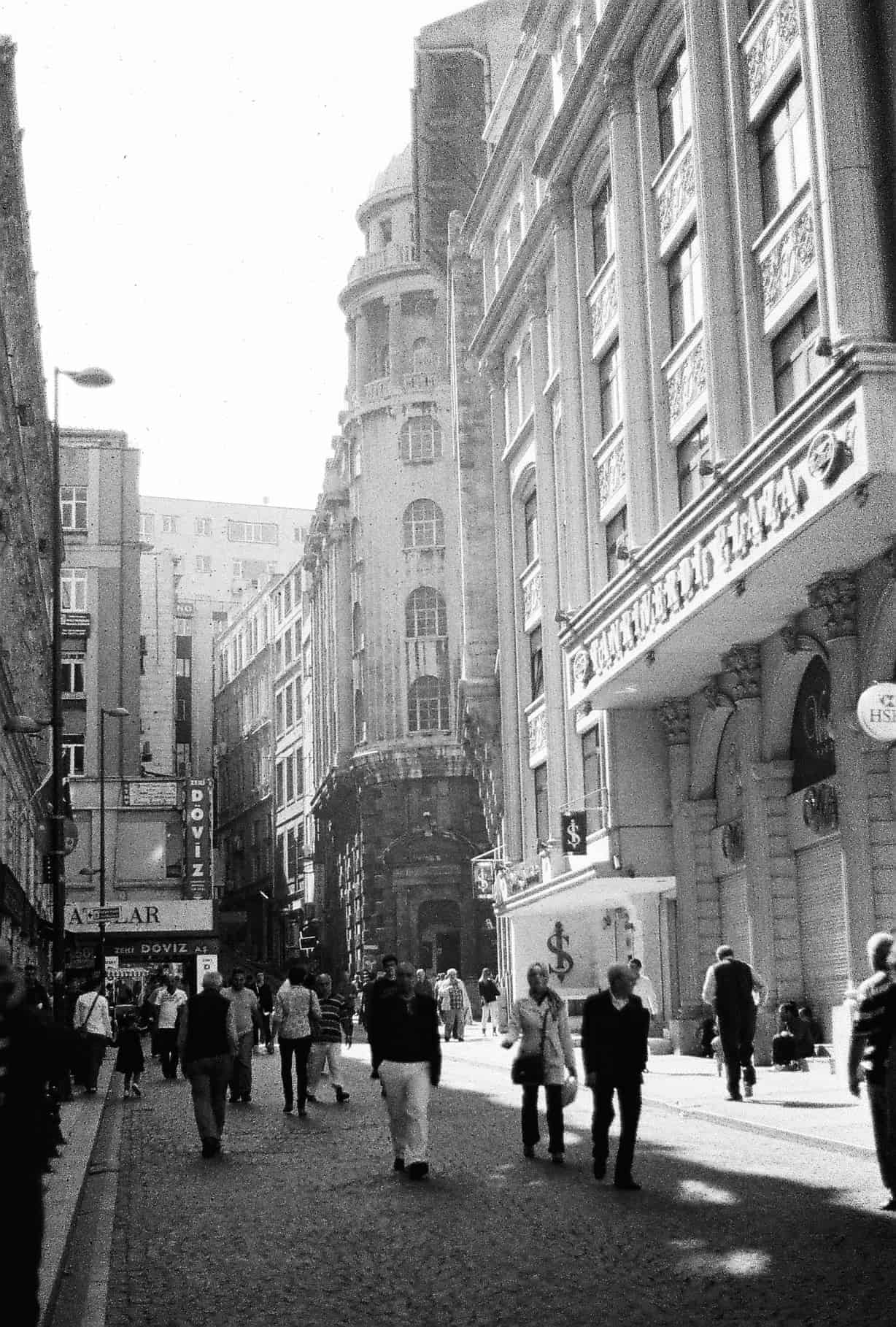 Side Streets of Eminonu (Istanbul in Black-and-White)