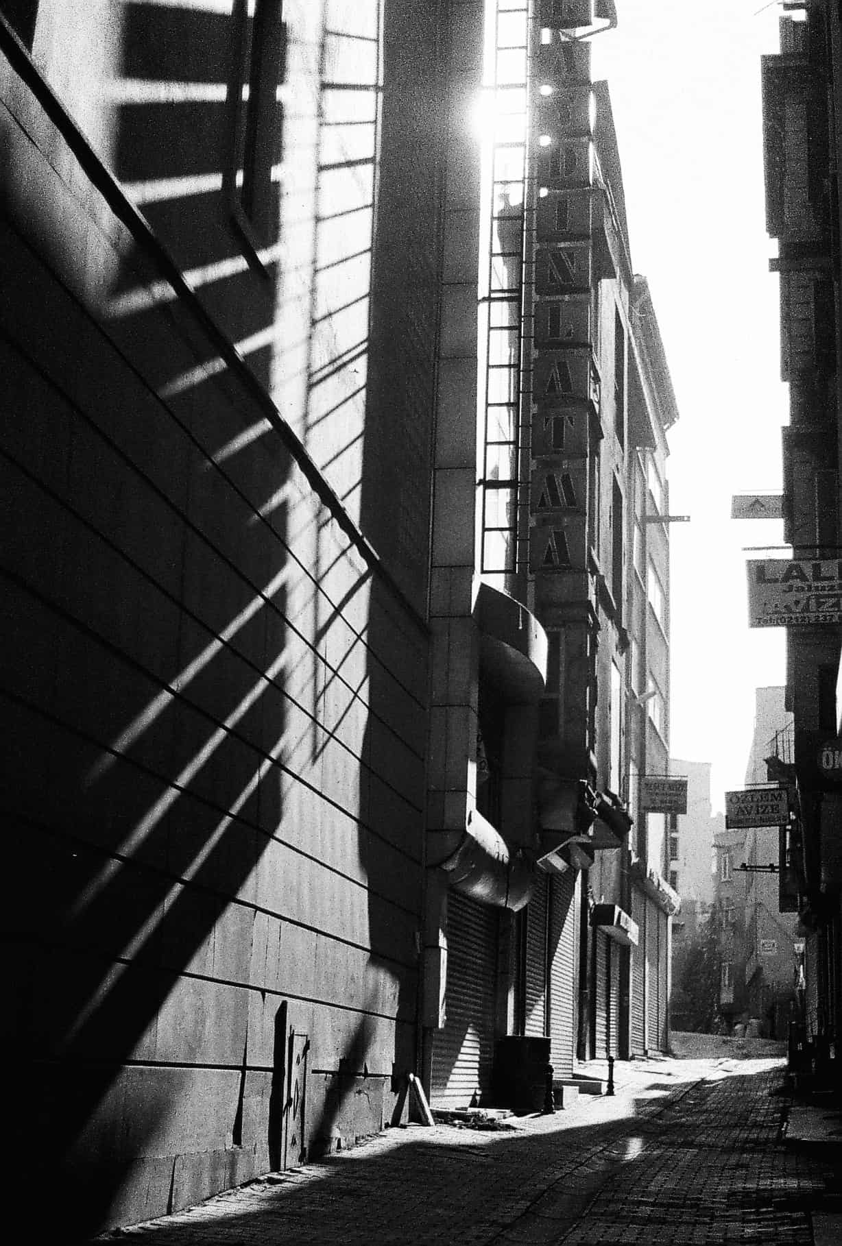 Slanting Light Istanbul (Istanbul in Black-and-White)