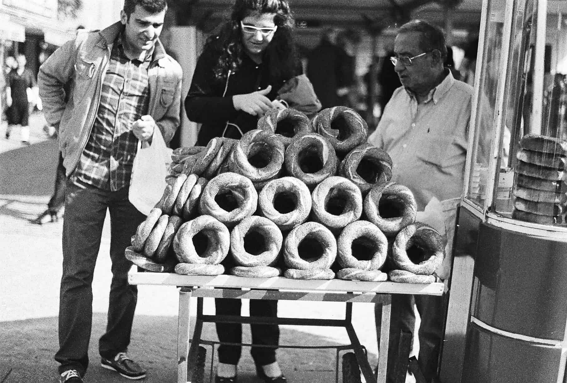 Simit Seller (Istanbul in Black-and-White)