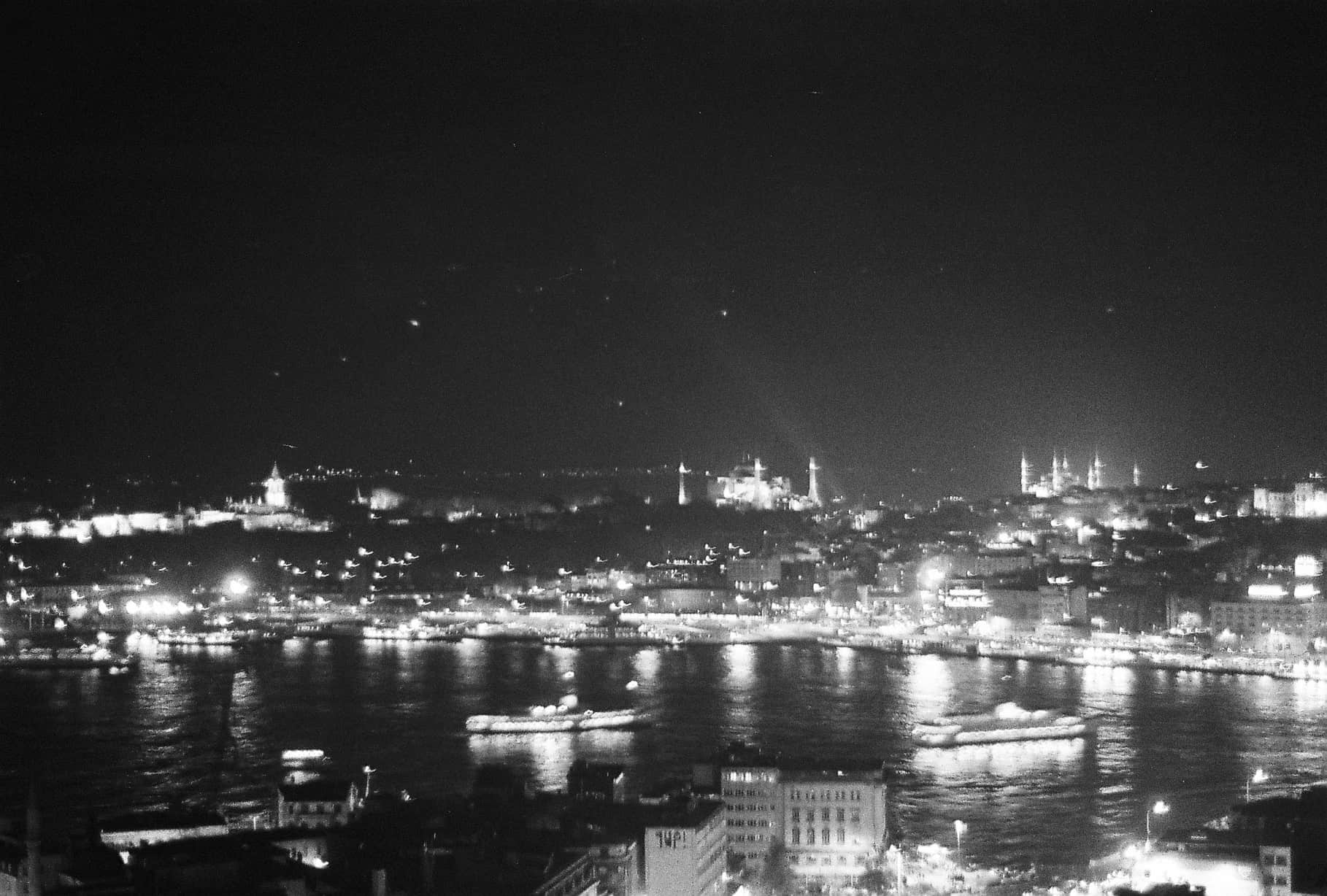 Istanbul by Night Istanbul in Black-and-White