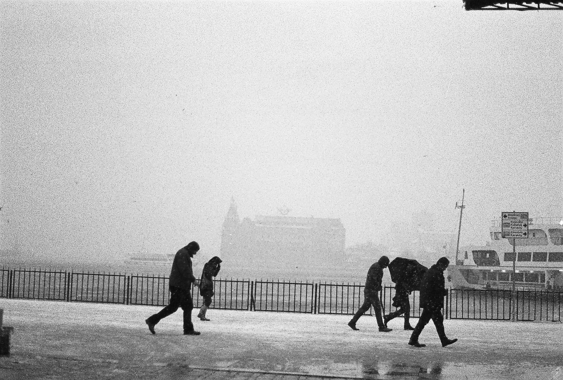 Istanbul Snow Haydarpasa (Istanbul in Black-and-White)