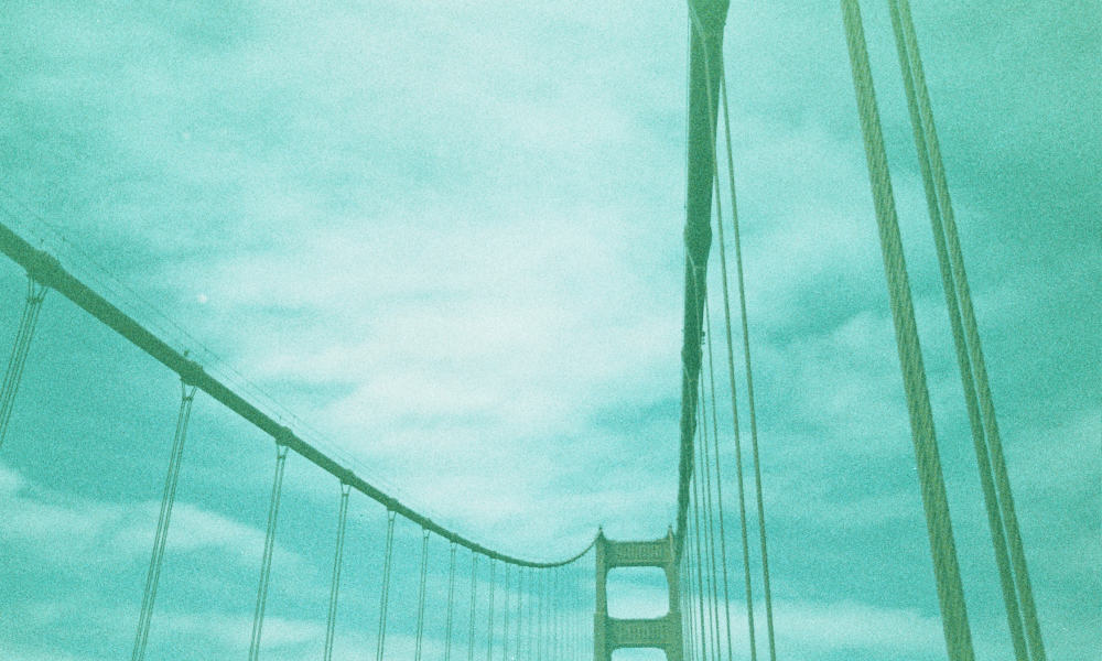 A Blue Golden Gate Bridge