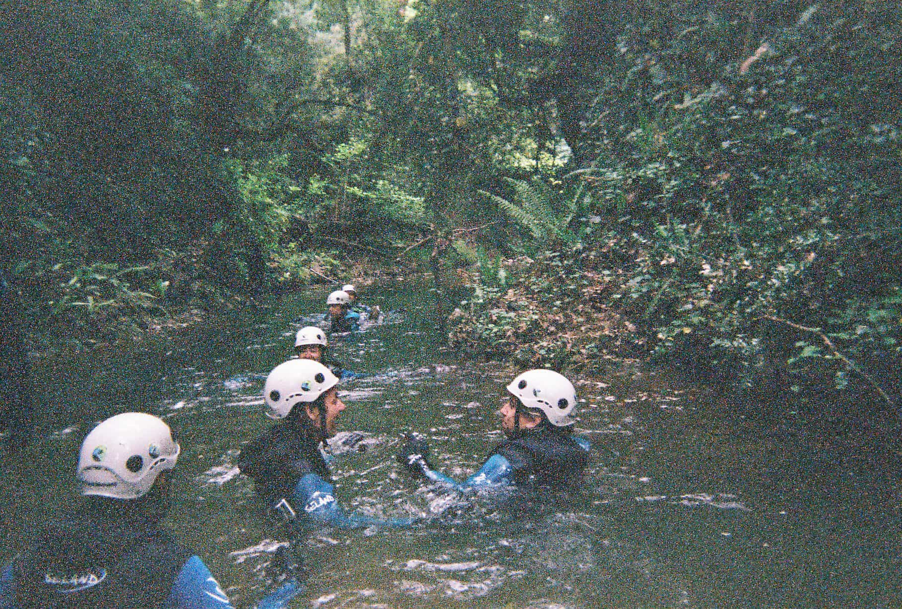 Water Trekking and shooting with a disposable camera