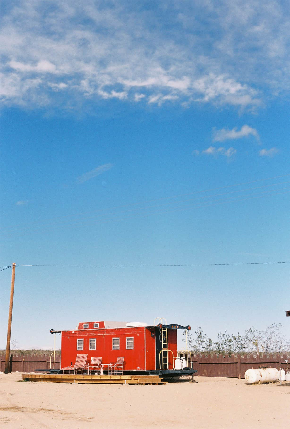 Red trailer in Hicksville